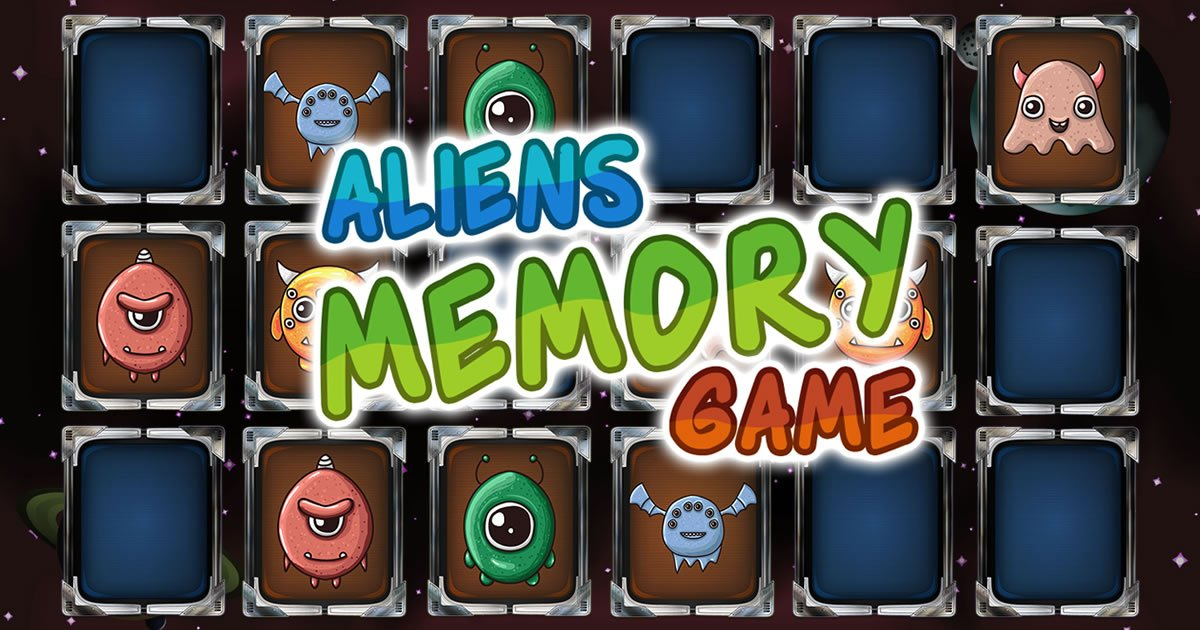 Image Aliens Memory Game