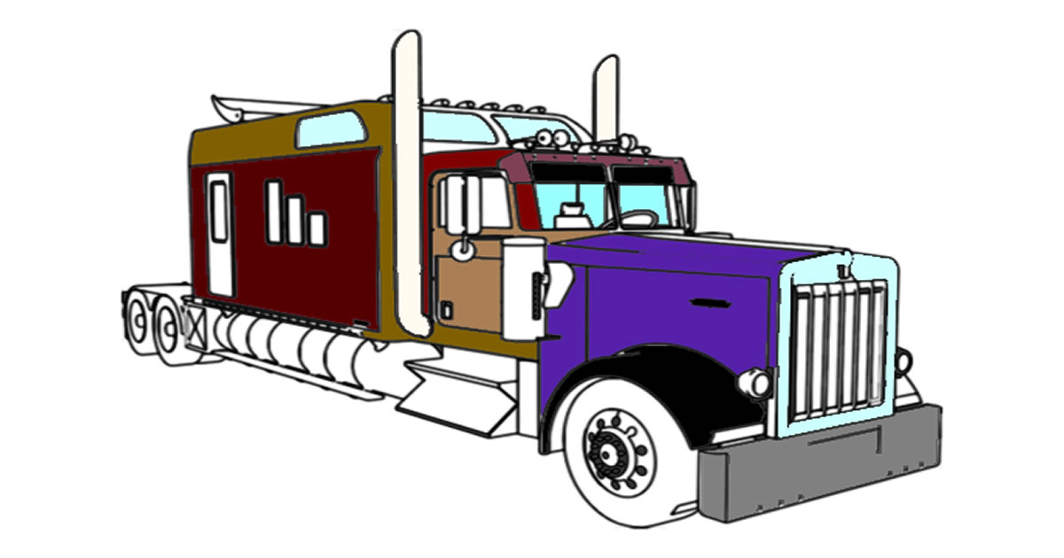 Image American Trucks Coloring
