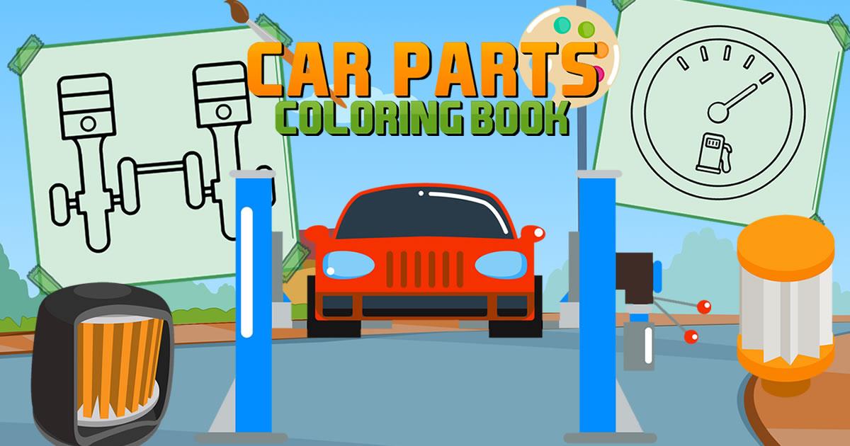 Image Car Parts Coloring Book