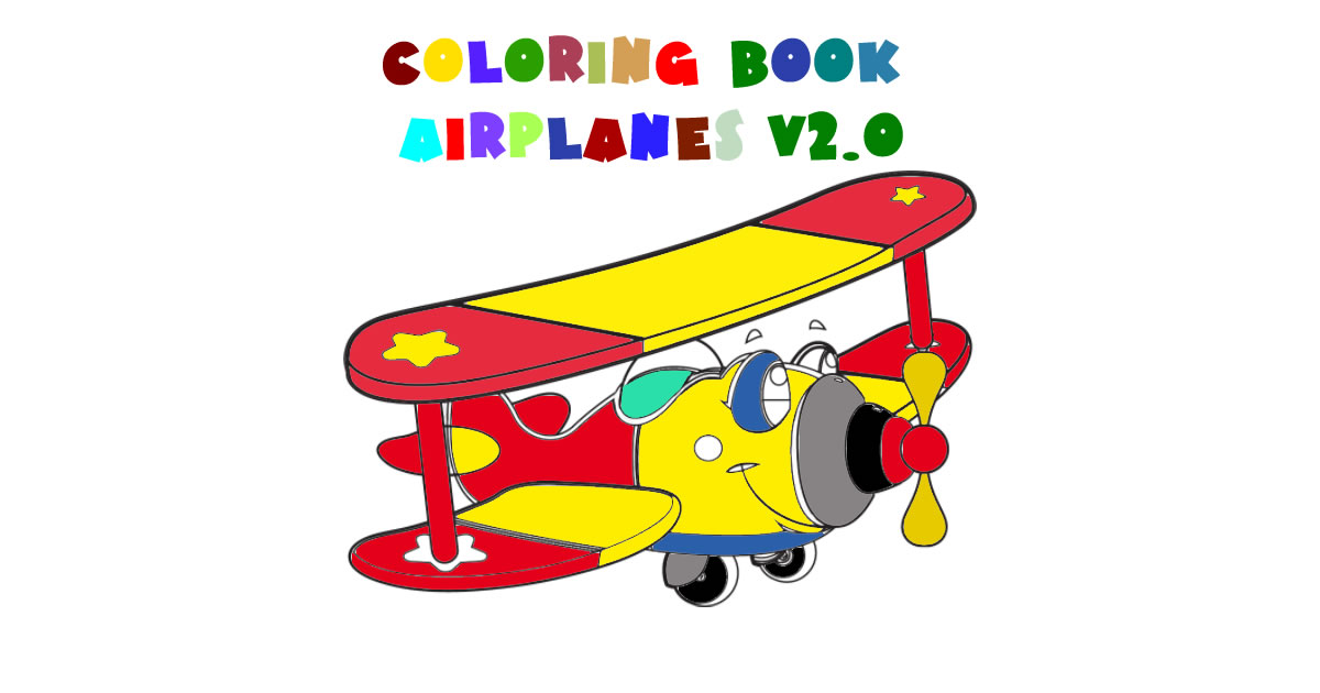 Image Coloring Book- Airplane