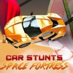 Crazy Car Stunts: Space Fortress