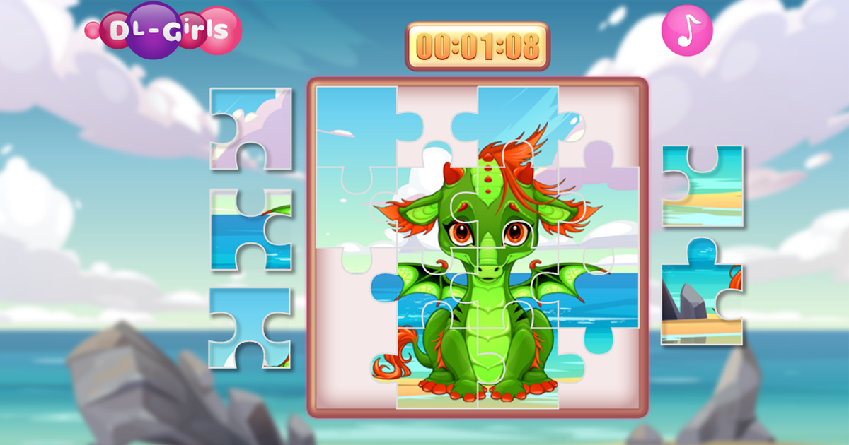 Image Cute Unicorns And Dragons Puzzle