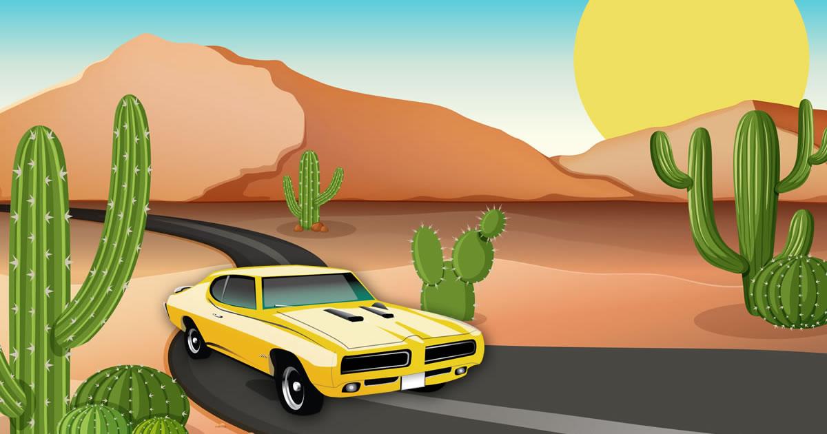 Image Desert Car Race