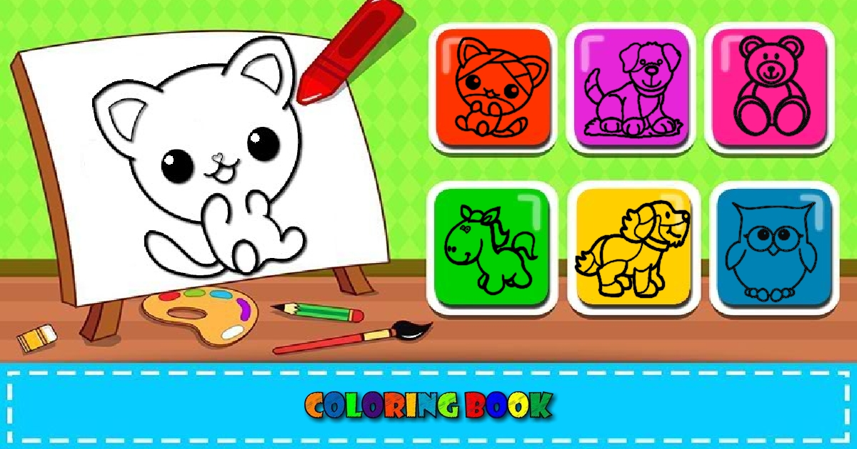 Image Easy Kids Coloring Game