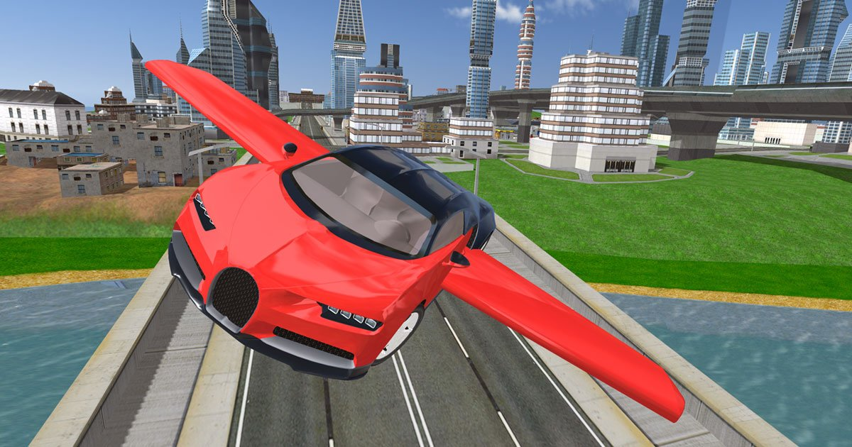 Image Flying Car Driving Simulator
