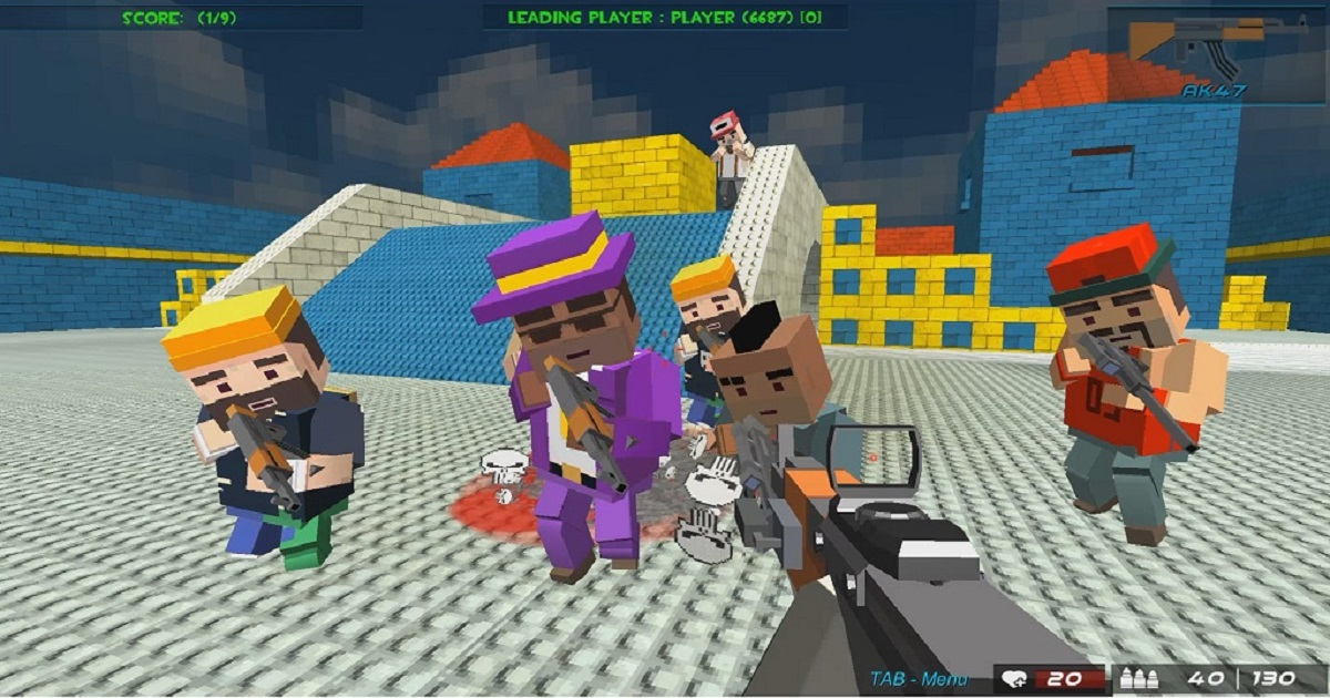 Image GunGame shooting warfare: blocky gangster