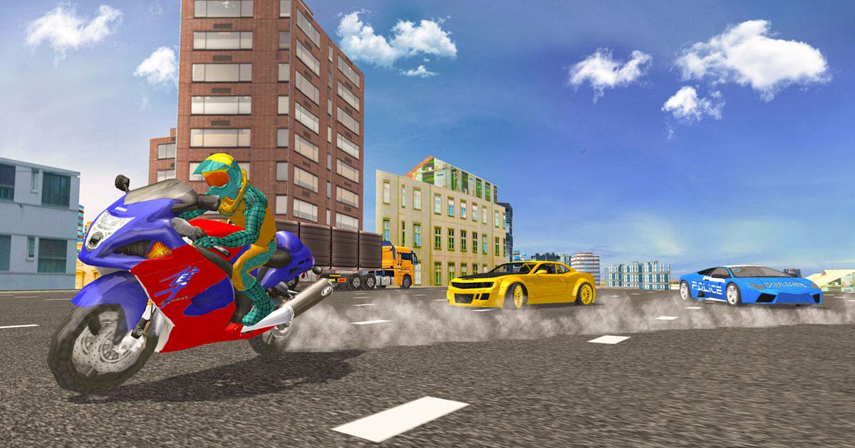 Image Hero Stunt Spider Bike Simulator