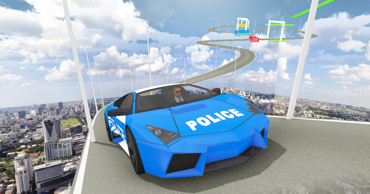 Image Impossible Police Car Track 3D 2020