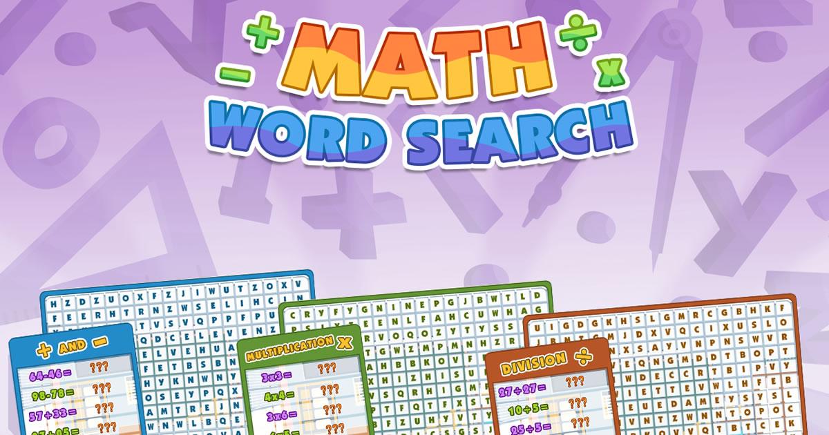 Image Math Word Search