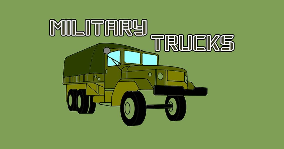 Image Military Trucks Coloring