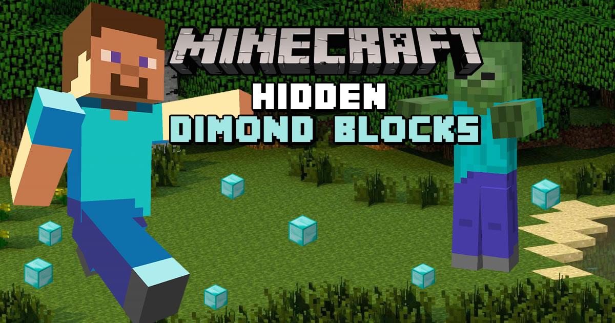 Image Minecraft Hidden Diamond Blocks