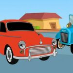 Old Timer Cars Coloring