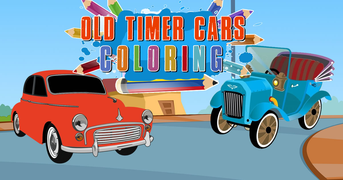 Image Old Timer Cars Coloring