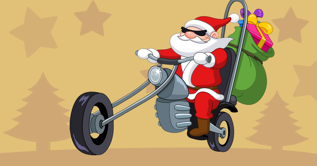 Image Santa Driver Coloring Book