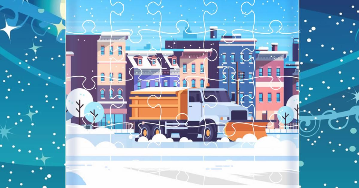Image Snow Plow Trucks Jigsaw