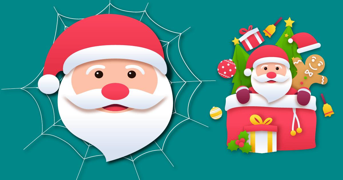 Image Spider Santa Claus