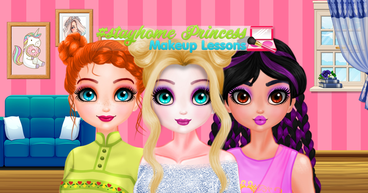 Image #StayHome Princess Makeup Lessons