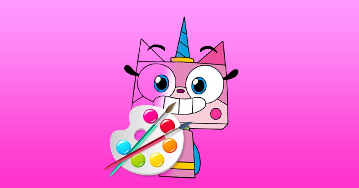Image Unicorn Kitty Coloring Book