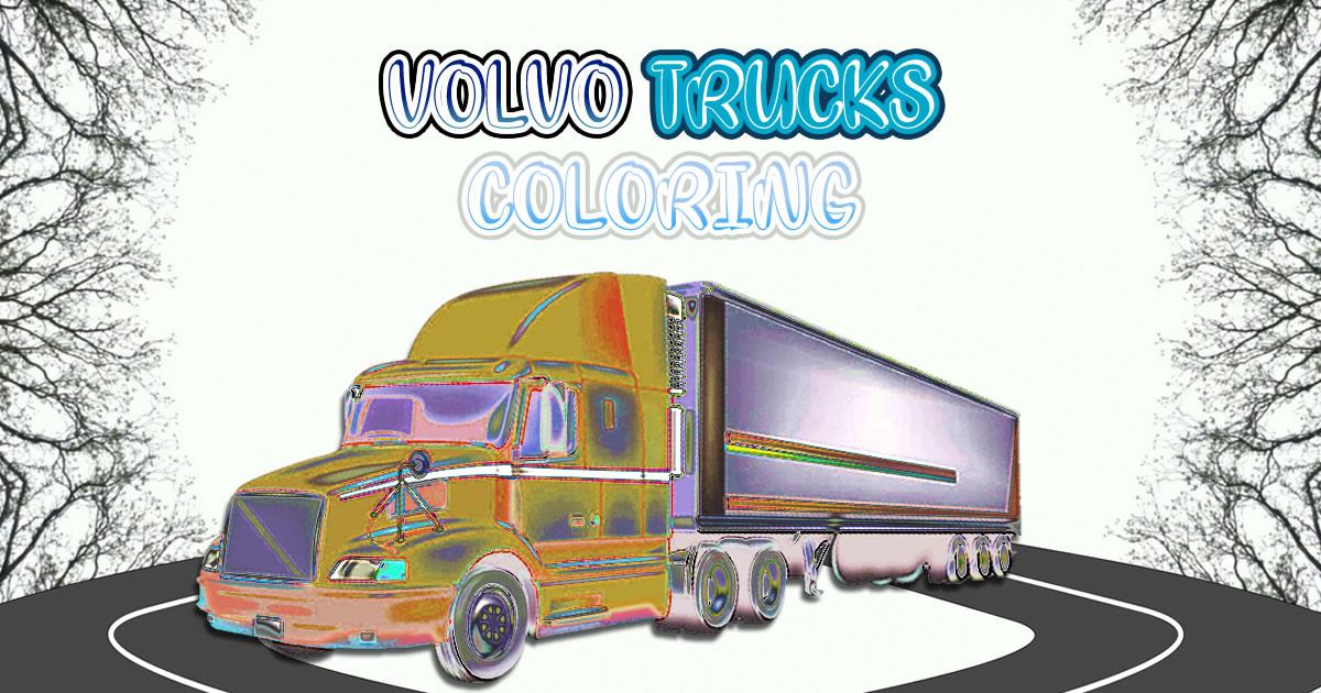 Image Volvo Trucks Coloring